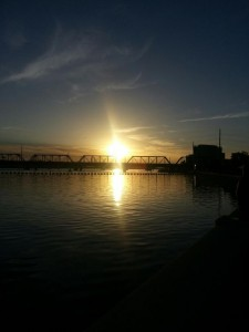 Sunrise over Tempe Town Lake